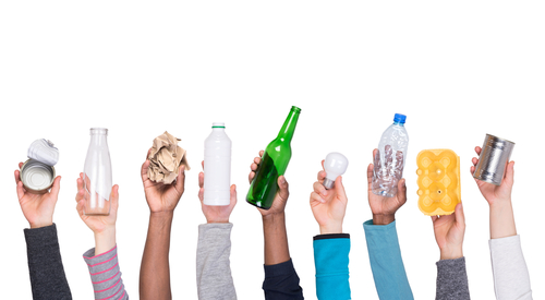 Different types of recyclables